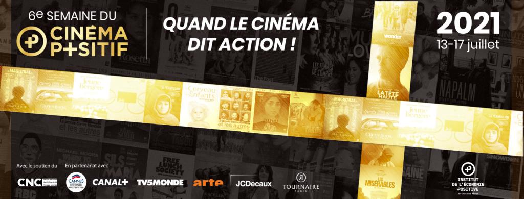 institut de l'économie positive : Visuel officiel événement semaine du cinéma positif